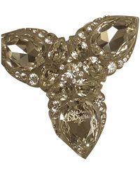 Dior Broche en cristal plateado - Multicolor