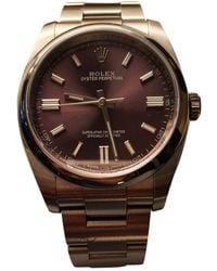 Rolex Oyster Perpetual 36mm Uhren - Lila