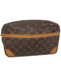 Louis Vuitton Borsa da viaggio in tela marrone