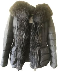 Moncler - Anthracite Synthetic Coats - Lyst