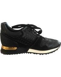 Louis Vuitton Leder Sneakers - Schwarz