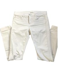 Maje Jeans en Coton - elasthane Rose - Multicolore