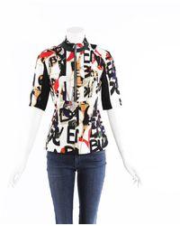 revisa c5f20 0514c Camisa en seda multicolor