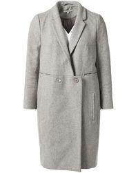 Carven Abrigo en lana gris
