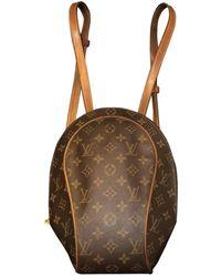 Louis Vuitton Zaino in tela marrone Ellipse