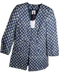 Stella Jean Linen Blazer - Blue