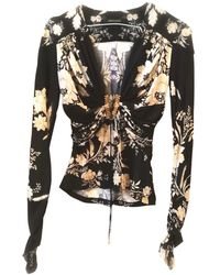 Roberto Cavalli - Black Viscose Top - Lyst