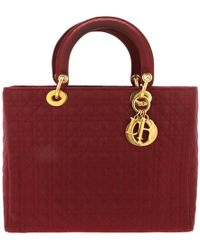 Dior - Lady Cloth Handbag - Lyst