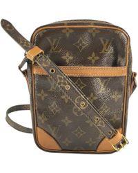 Louis Vuitton Pre-owned Danube Cloth Crossbody Bag in Brown - Lyst 12d50c87847b7