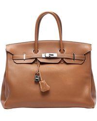 Hermès Birkin 35 Leather Handbag - Metallic