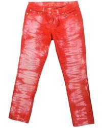 Michael Kors Orange Cotton Jeans