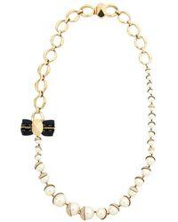 Dior Collar largos en metal dorado - Metálico