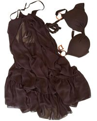 Dior Vintage Brown Synthetic Swimwear