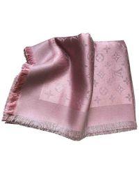 Louis Vuitton Châle Monogram Shine Seide Stola - Pink