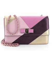 Ferragamo - Purple Leather Handbag - Lyst