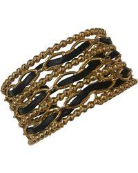 Chanel Pulsera en metal dorado - Metálico