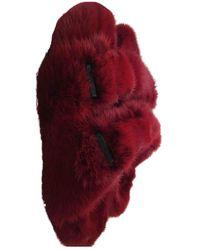 Birkenstock Nerz Pantoffeln - Rot