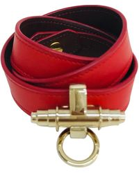 Givenchy Obsedia Red Leather Bracelet
