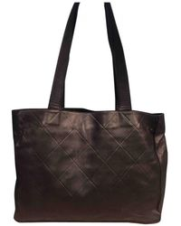 Chanel - Pre-owned Leather Tote - Lyst
