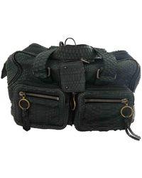 Chloé Python Bowling Bag - Blue