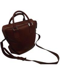 Lancel - Burgundy Leather Bag - Lyst