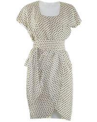 Givenchy - Ecru Cotton Dress - Lyst