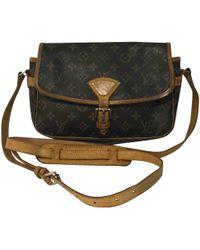 Louis Vuitton - Pre-owned Vintage Sologne Brown Cloth Handbag - Lyst