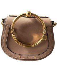 Chloé Bracelet Nile Leder Handtaschen - Natur
