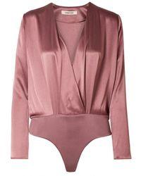 Cushnie et Ochs Camisa en seda rosa - Multicolor