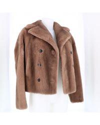 Dior Beige Mink Coat - Natural