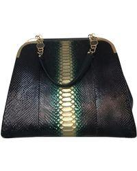 BVLGARI Black Python Handbag