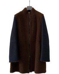 Marni Shearling Coat - Brown