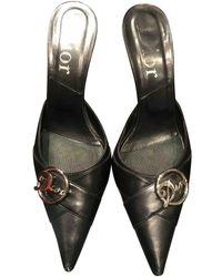 Dior Escarpins en Fourrure Noir