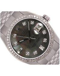 Rolex Datejust 36mm Black Steel Watch