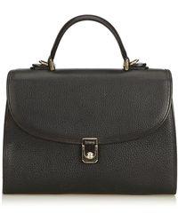 Burberry \n Black Leather Handbag
