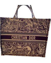 Dior Book Tote Leinen Handtaschen - Mehrfarbig