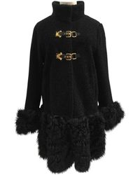 Miu Miu Black Shearling Coat