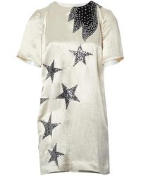 Marc By Marc Jacobs - Ecru Viscose Dress - Lyst
