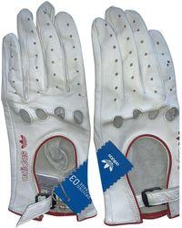 adidas Leder Handschuhe - Weiß