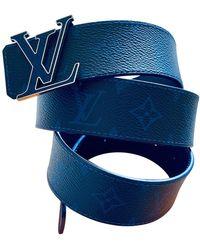 Louis Vuitton Ceinture Hockenheim en toile - Bleu