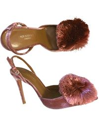 Aquazzura Powder Puff Velvet Heels - Multicolour
