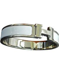 Hermès Clic H Silber Armbänder - Mettallic