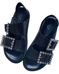Zadig & Voltaire Spring Summer 2020 Leather Sandal - Black