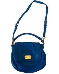 Marc By Marc Jacobs Classic Q Blue Leather Handbag