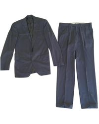 Lanvin - Pre-owned Blue Wool Suits - Lyst