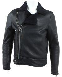Marni Blue Leather Jacket