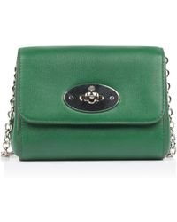 4f7c844a4d Lyst - Mulberry Lily Micro Grained Leather Shoulder Bag in Green
