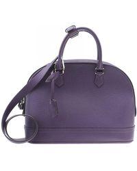 Louis Vuitton M48881 Taurillon Alma Pm Purple Leather Satchel Bag