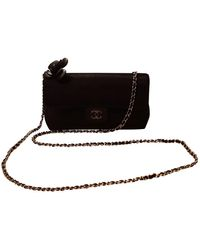 Chanel Sac à main Wallet on Chain en Soie Noir