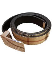 Burberry Cintura in Pelle - Neutro